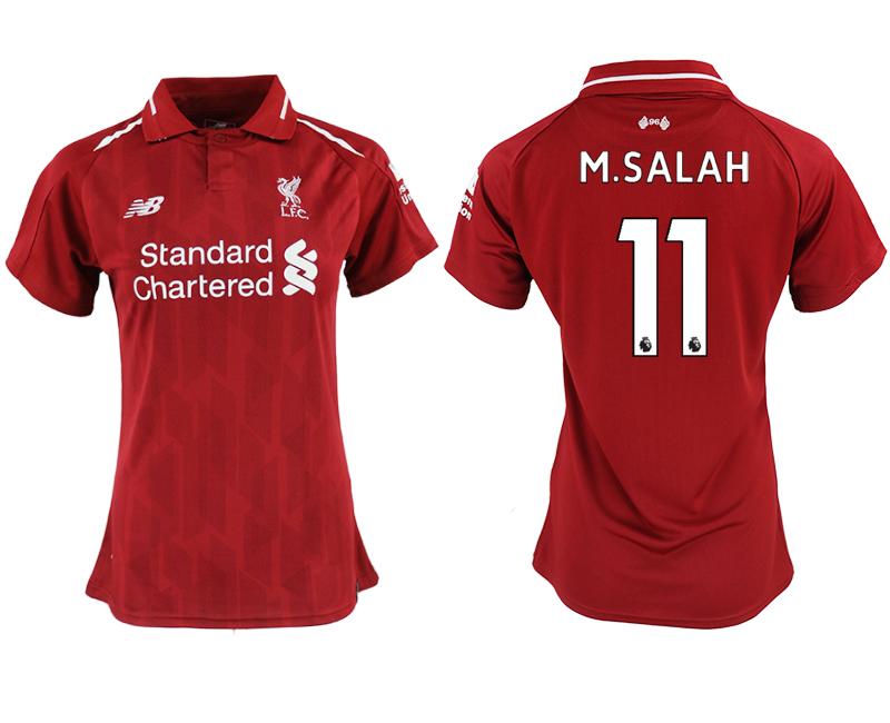 2018-19 Liverpool 11 M.SALAH Home Women Soccer Jersey