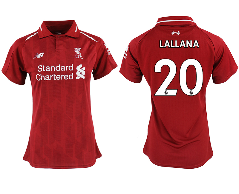 2018-19 Liverpool 20 LALLANA Home Women Soccer Jersey
