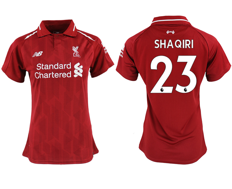 2018-19 Liverpool 23 SHAQIRI Home Women Soccer Jersey