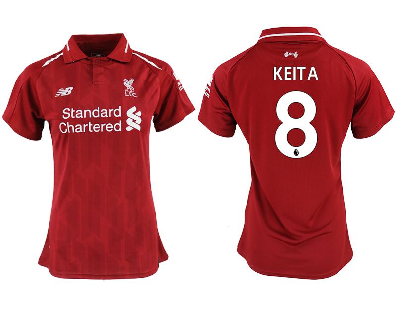 2018-19 Liverpool 8 KEITA Home Women Soccer Jersey