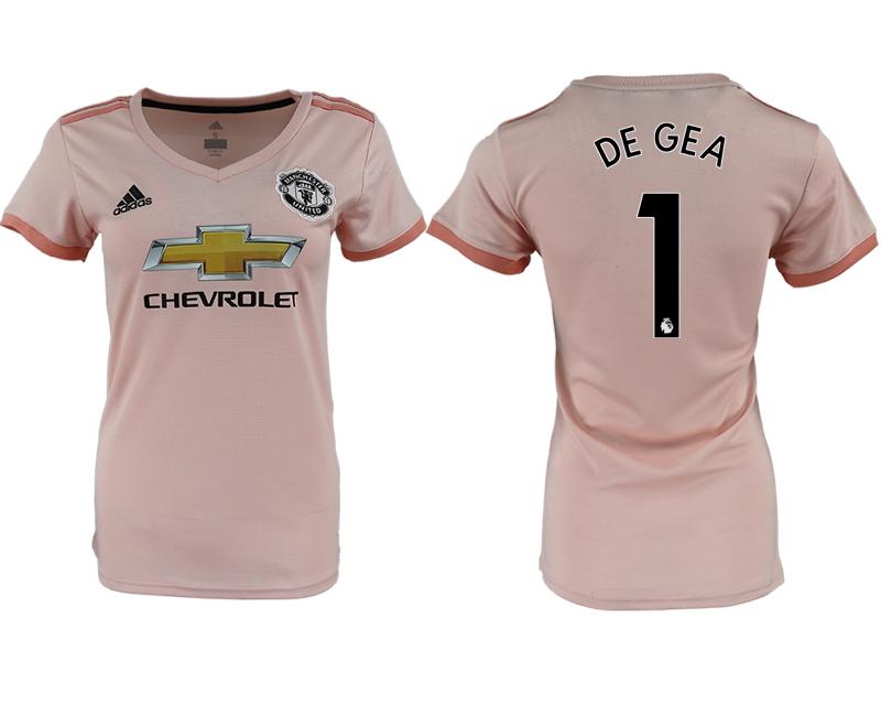 2018-19 Manchester United 1 DE GEA Away Women Soccer Jersey