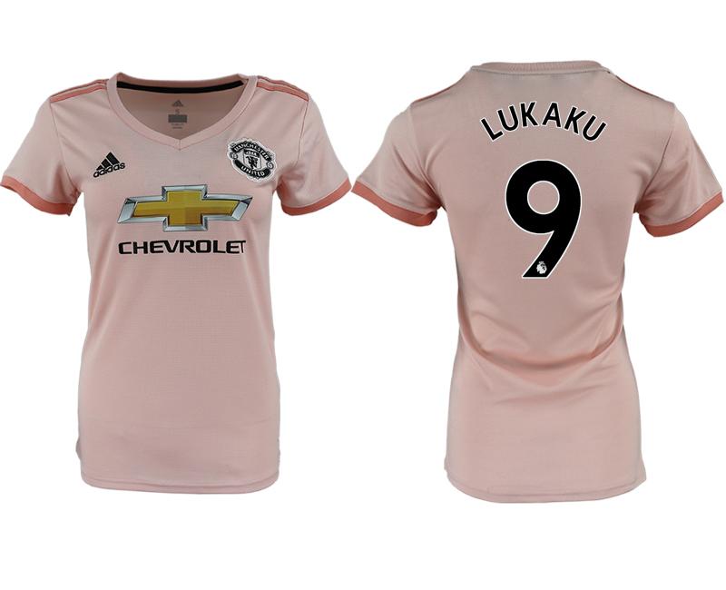 2018-19 Manchester United 9 LUKAKU Away Women Soccer Jersey