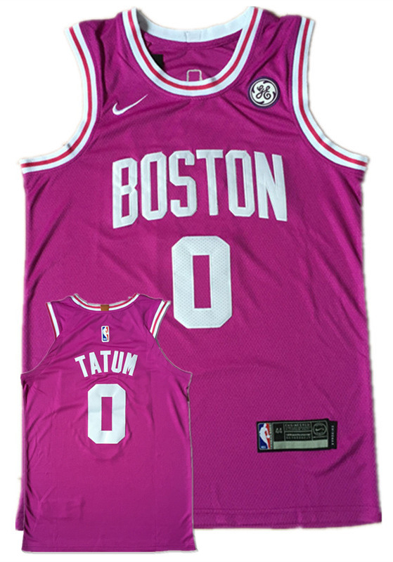 Celtics 0 Jayson Tatum Purple Nike Authentic Jersey