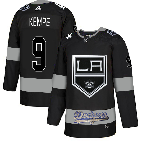 LA Kings With Dodgers 9 Adrian Kempe Black Adidas Jersey