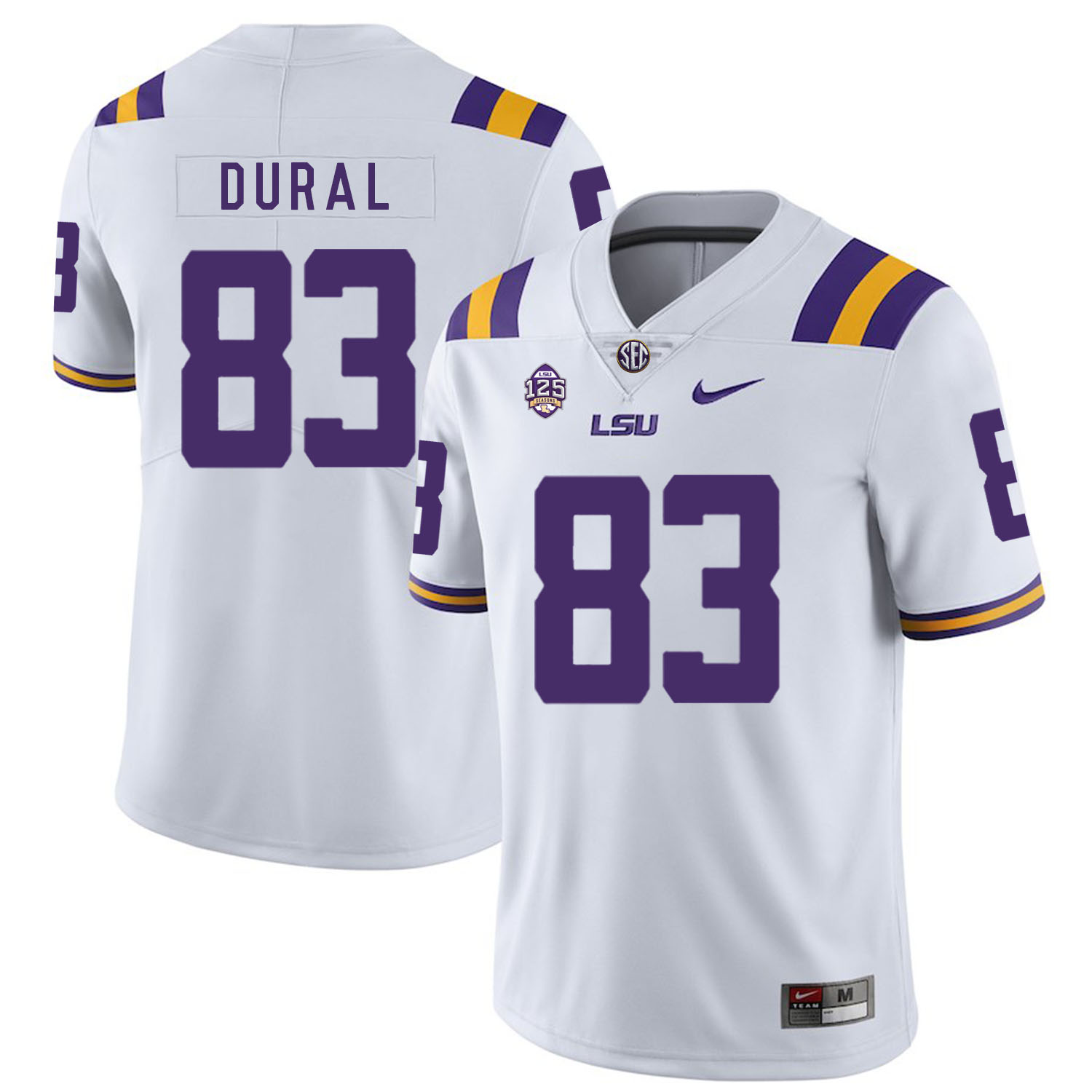 LSU Tigers 83 Travin Dural White Nike College Football Jersey