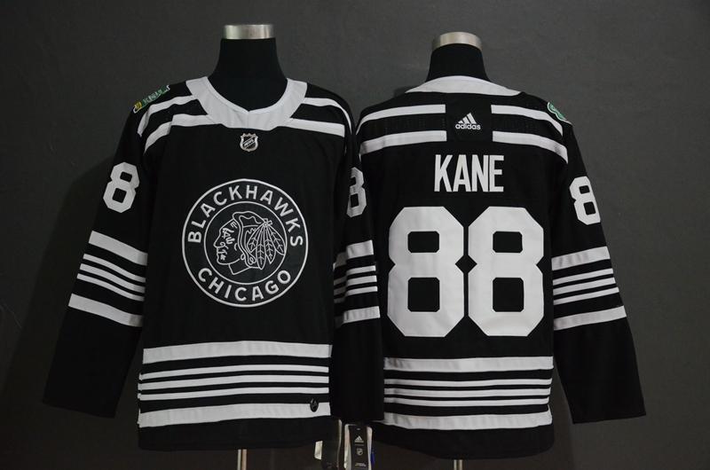 Blackhawks 88 Patrick Kane Black 2019 Winter Classic Adidas Jersey
