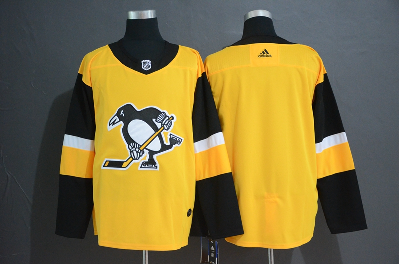 Penguins Blank Gold Alternate Adidas Jersey