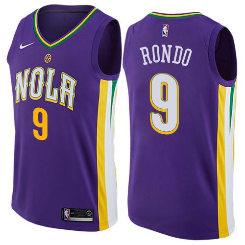 Pelicans 9 Rajon Rondo Purple Mardi Gras Pride Nike Swingman Jersey