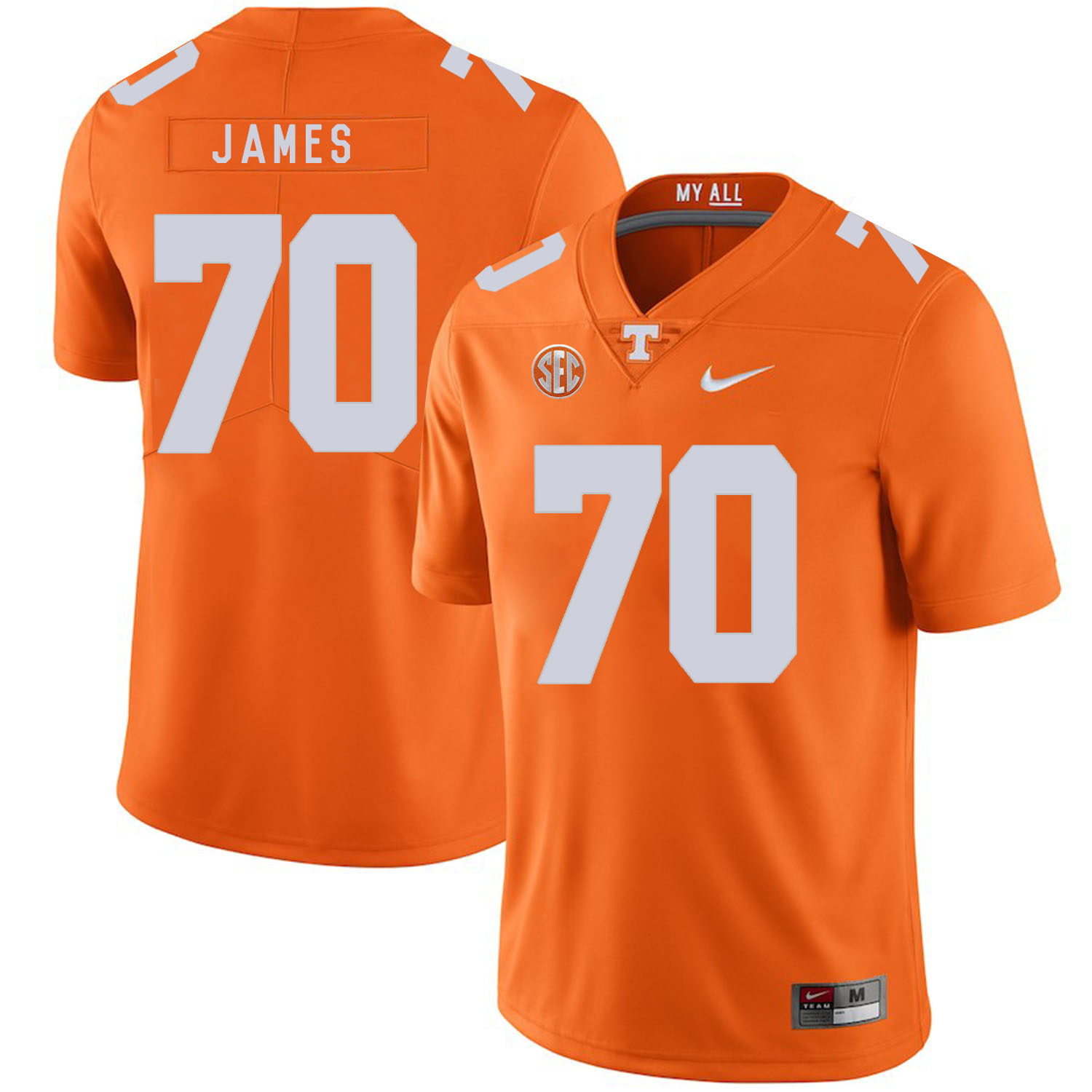 Tennessee Volunteers 70 Ja'Wuan James Orange Nike College Football Jersey