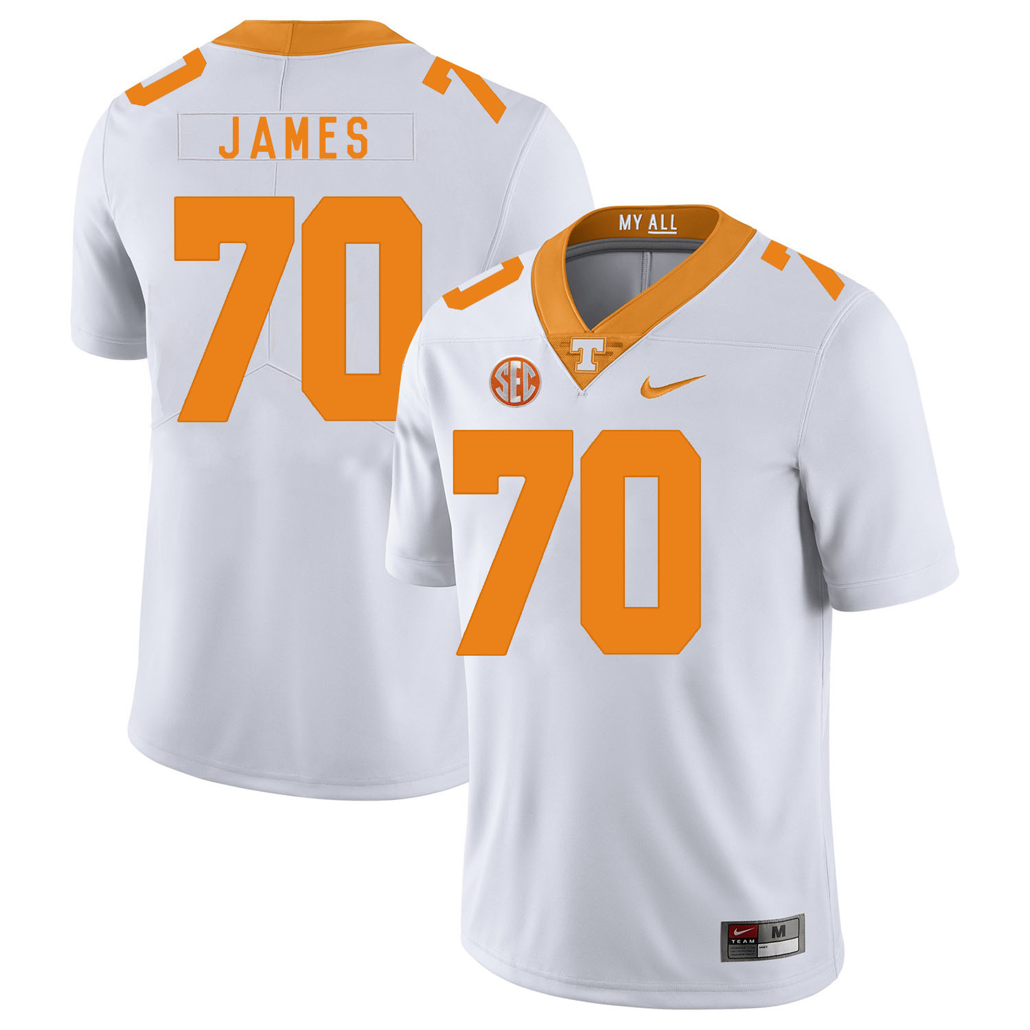 Tennessee Volunteers 70 Ja'Wuan James White Nike College Football Jersey
