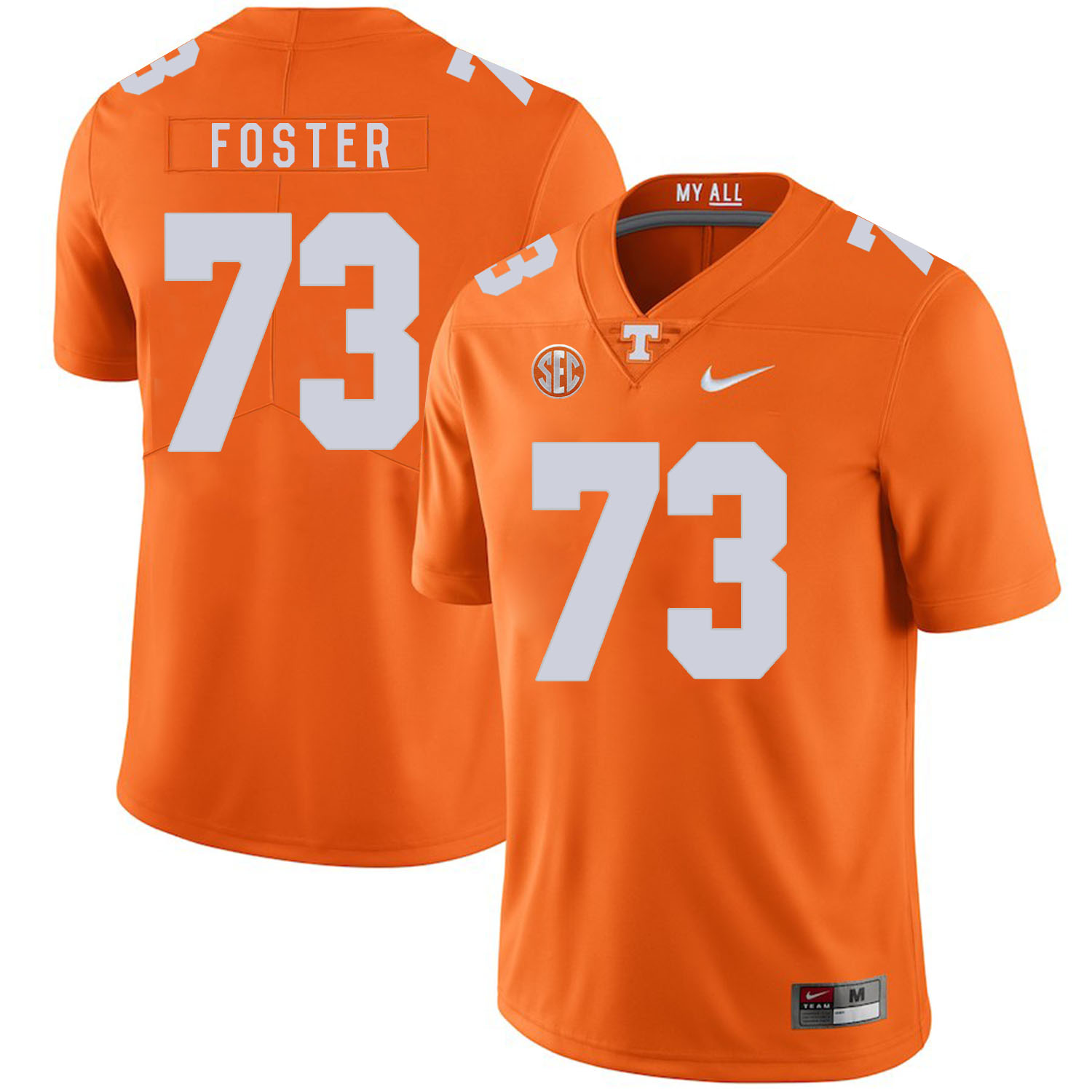 Tennessee Volunteers 73 Ramon Foster Orange Nike College Football Jersey