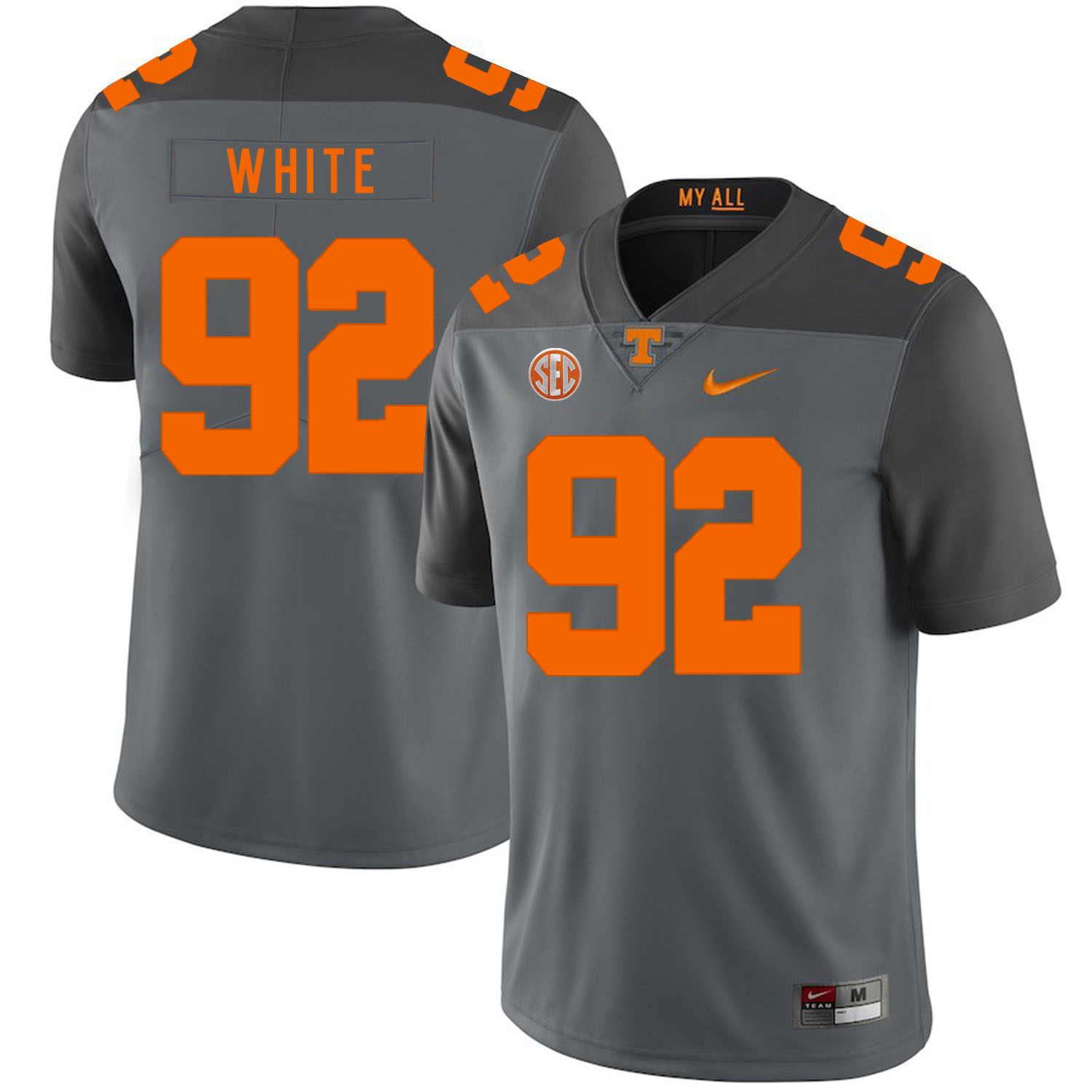 Tennessee Volunteers 92 Reggie White Gray Nike College Football Jersey