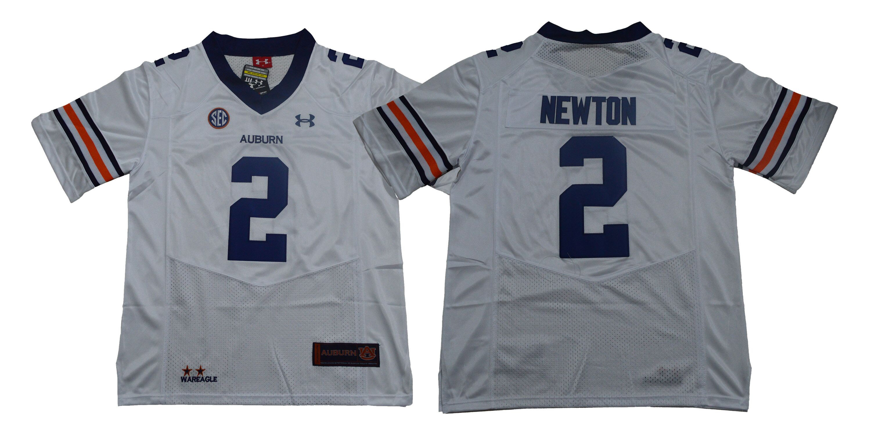 Auburn Tigers 2 Cam Newton White College Football Jersey