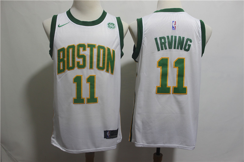 Celtics 11 Kyrie Irving White 2018-19 City Edition Nike Swingman Jersey