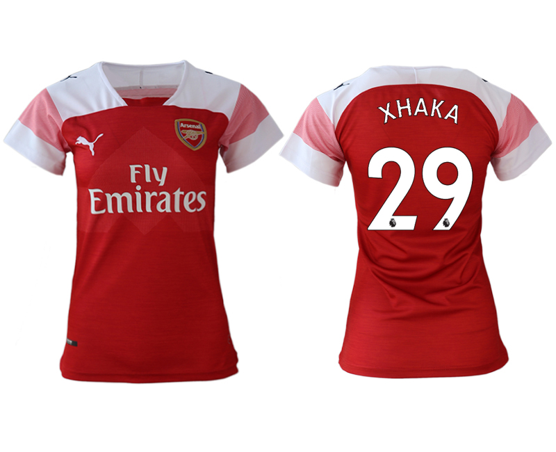 2018-19 Arsenal 29 XHAKA Home Women Soccer Jersey