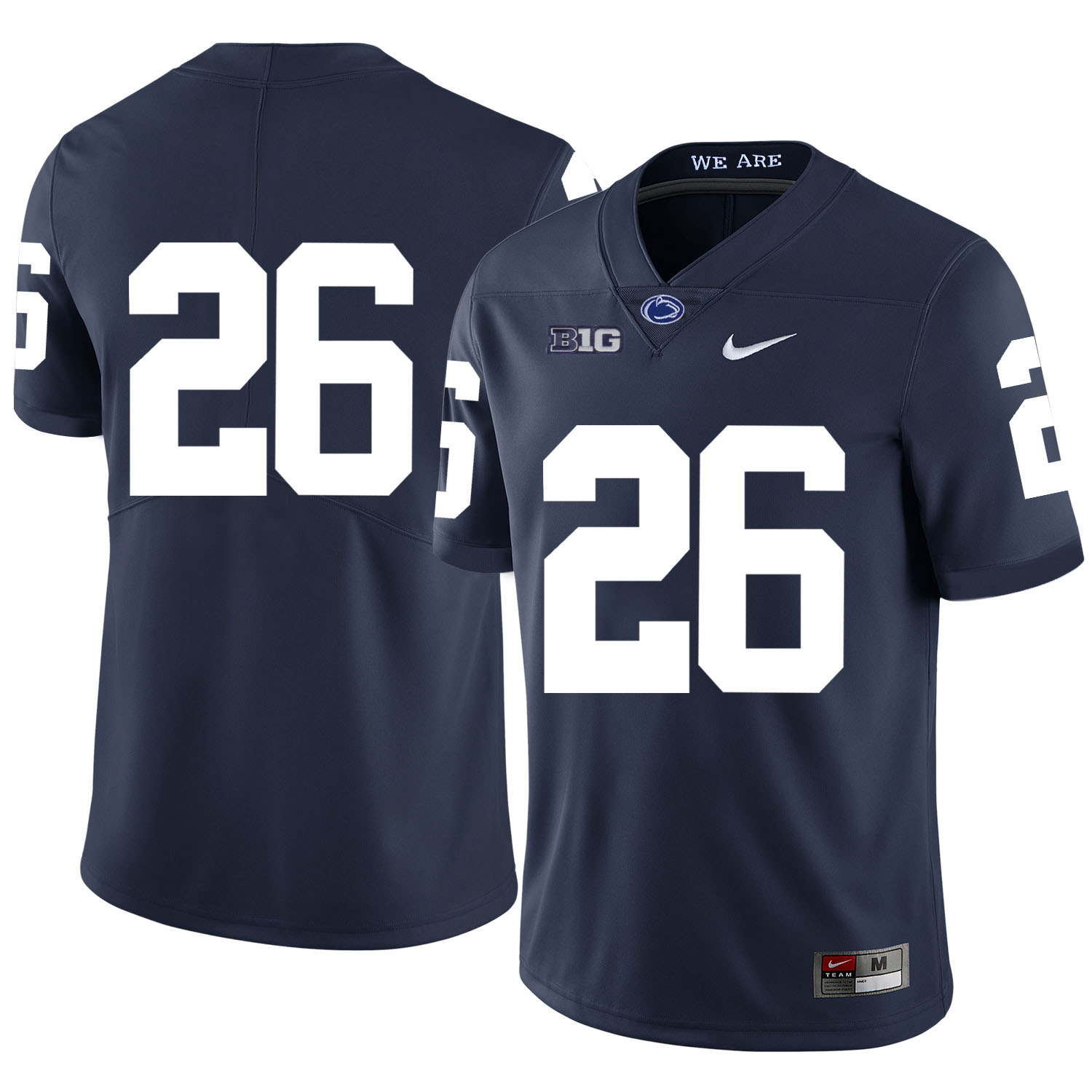 Penn State Nittany Lions 26 Saquon Barkley Navy Nike College Football Jersey
