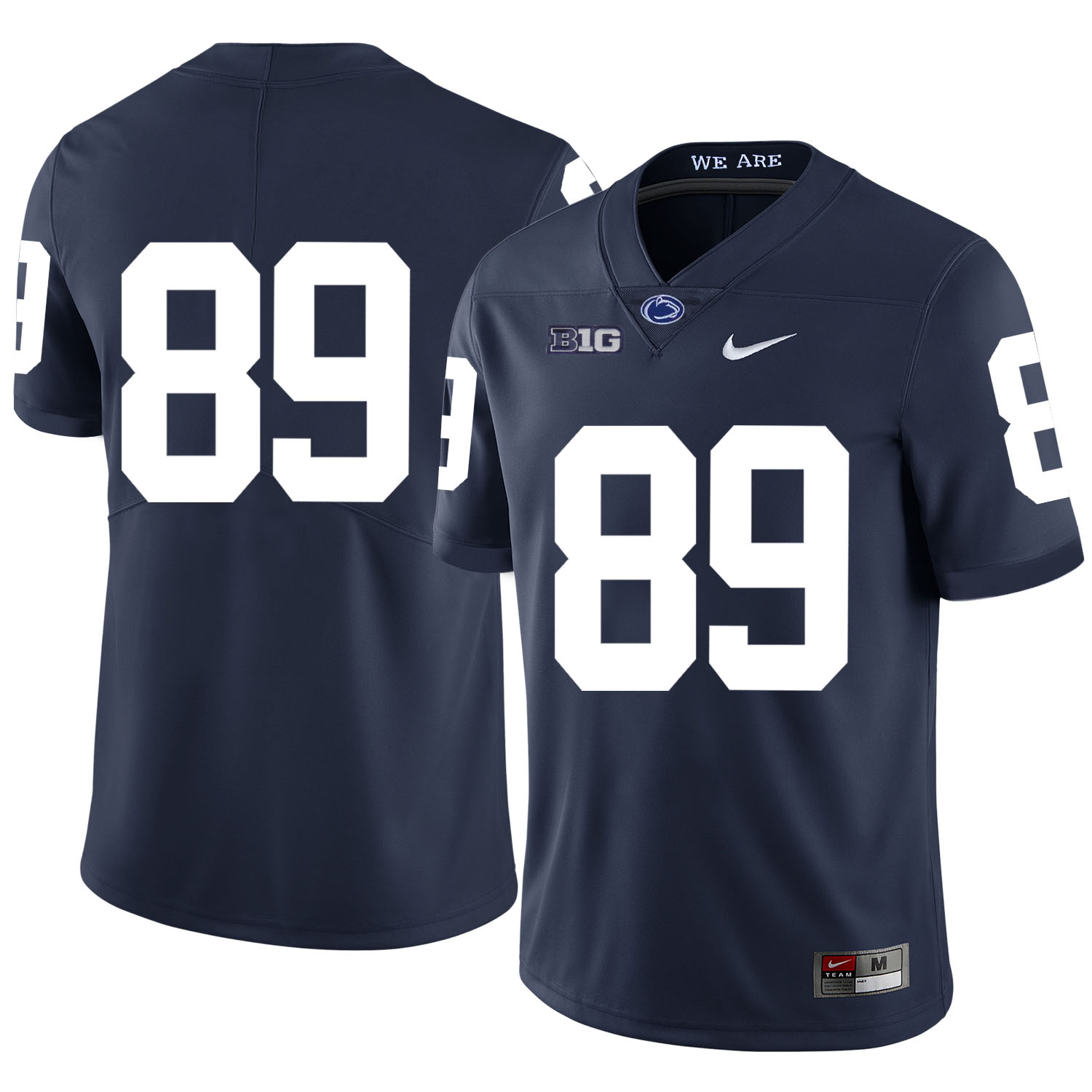 Penn State Nittany Lions 89 Garry Gilliam Navy Nike College Football Jersey