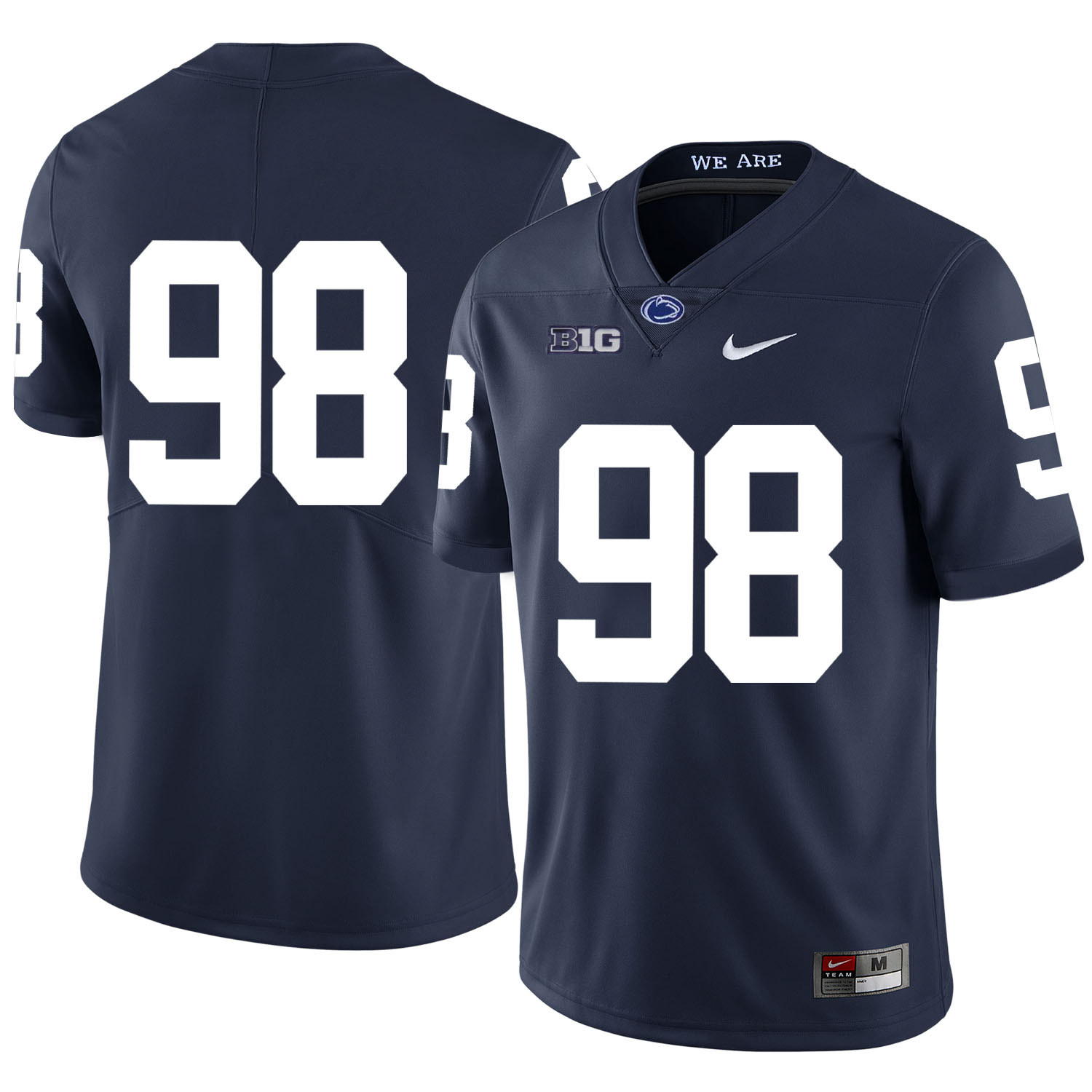 Penn State Nittany Lions 98 Anthony Zettel Navy Nike College Football Jersey