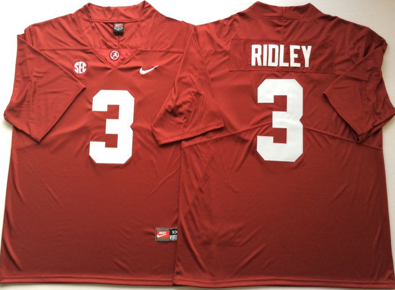 Alabama Crimson Tide 3 Calvin Ridley Red Nike College Football Jersey