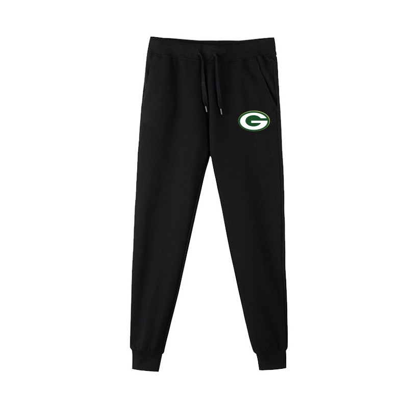 Green Bay Packers Black Men's Winter Thicken NFL Sports Pant