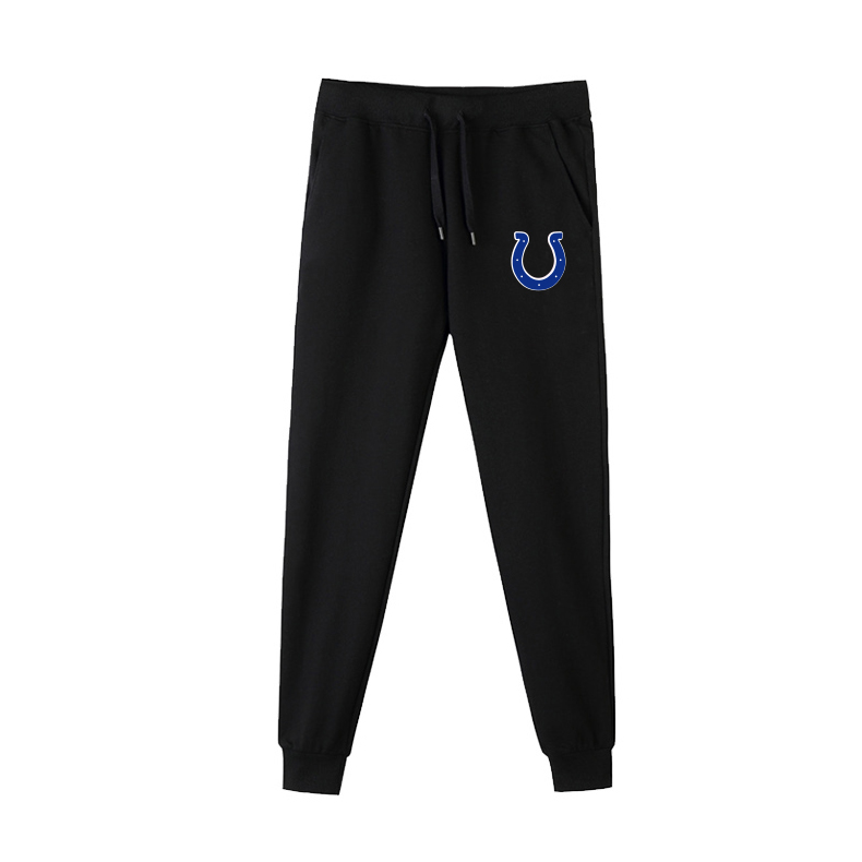 Indianapolis Colts Black Men's Winter Thicken NFL Sports Pant