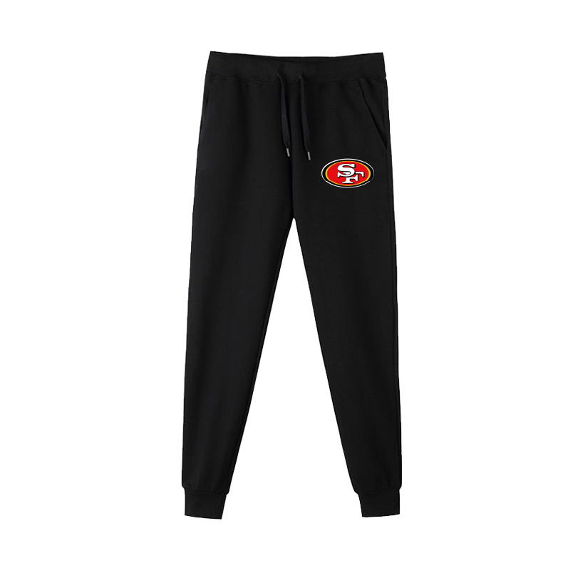 San Francisco 49ers Black Men's Winter Thicken NFL Sports Pant