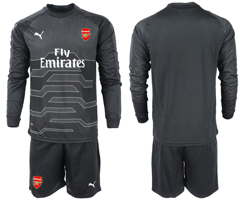 2018-19 Arsenal Black Long Sleeve Goalkeeper Soccer Jersey