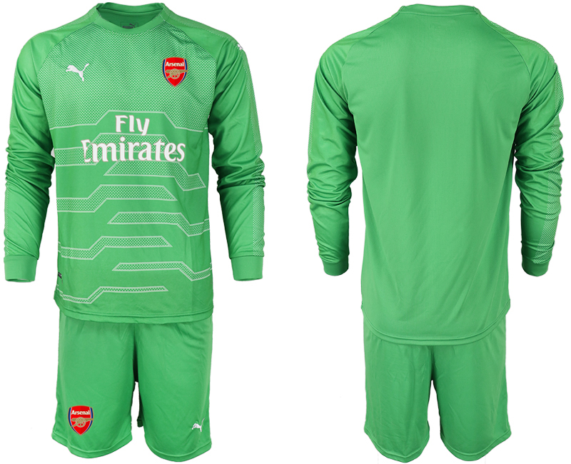 2018-19 Arsenal Green Long Sleeve Goalkeeper Soccer Jersey