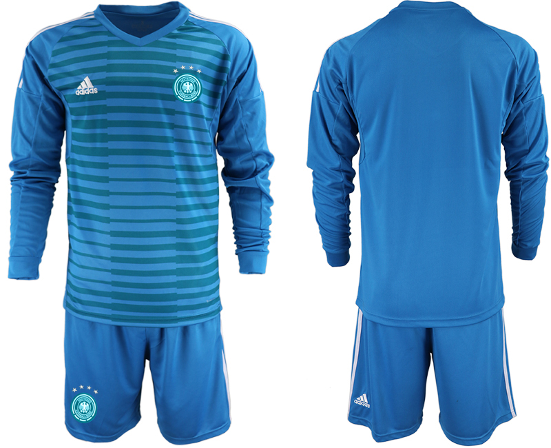 2018-19 Germany Blue Long Sleeve Goalkeeper Soccer Jersey