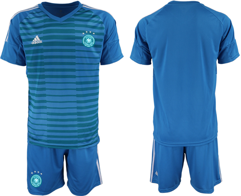 2018-19 Germany Blue Goalkeeper Soccer Jersey