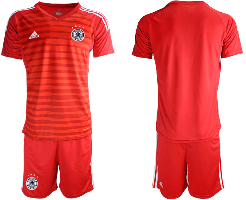 2018-19 Germany Red Goalkeeper Soccer Jersey