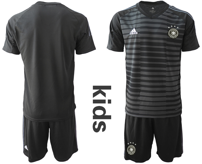 2018-19 Germany Black Youth Goalkeeper Soccer Jersey