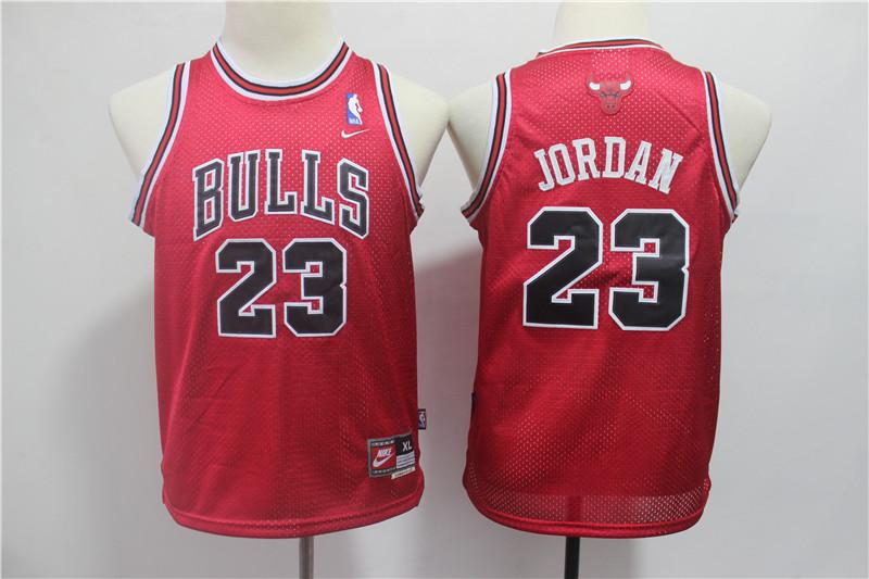 Bulls 23 Michael Jordan Red Youth Nike Mesh Throwback Jersey