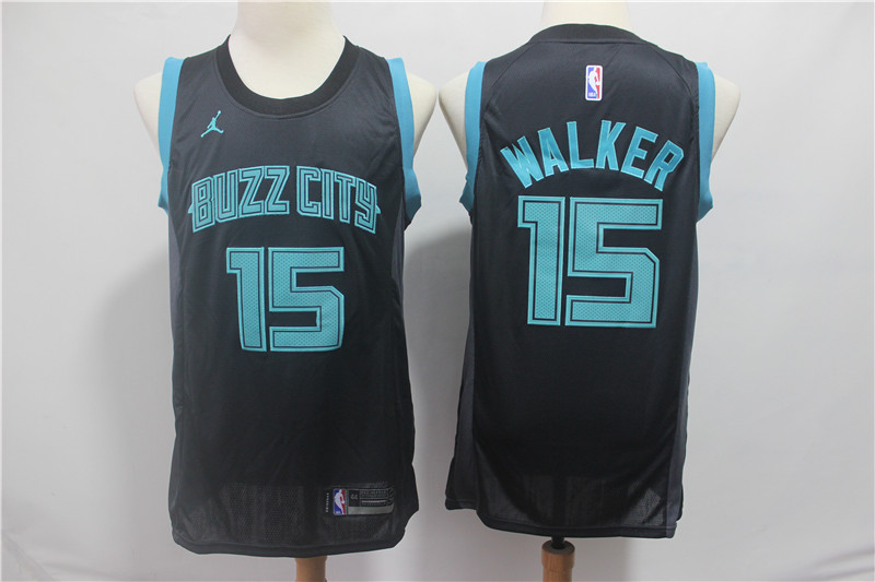 Hornets 15 Kemba Walker Black 2018-19 City Edition Nike Swingman Jersey