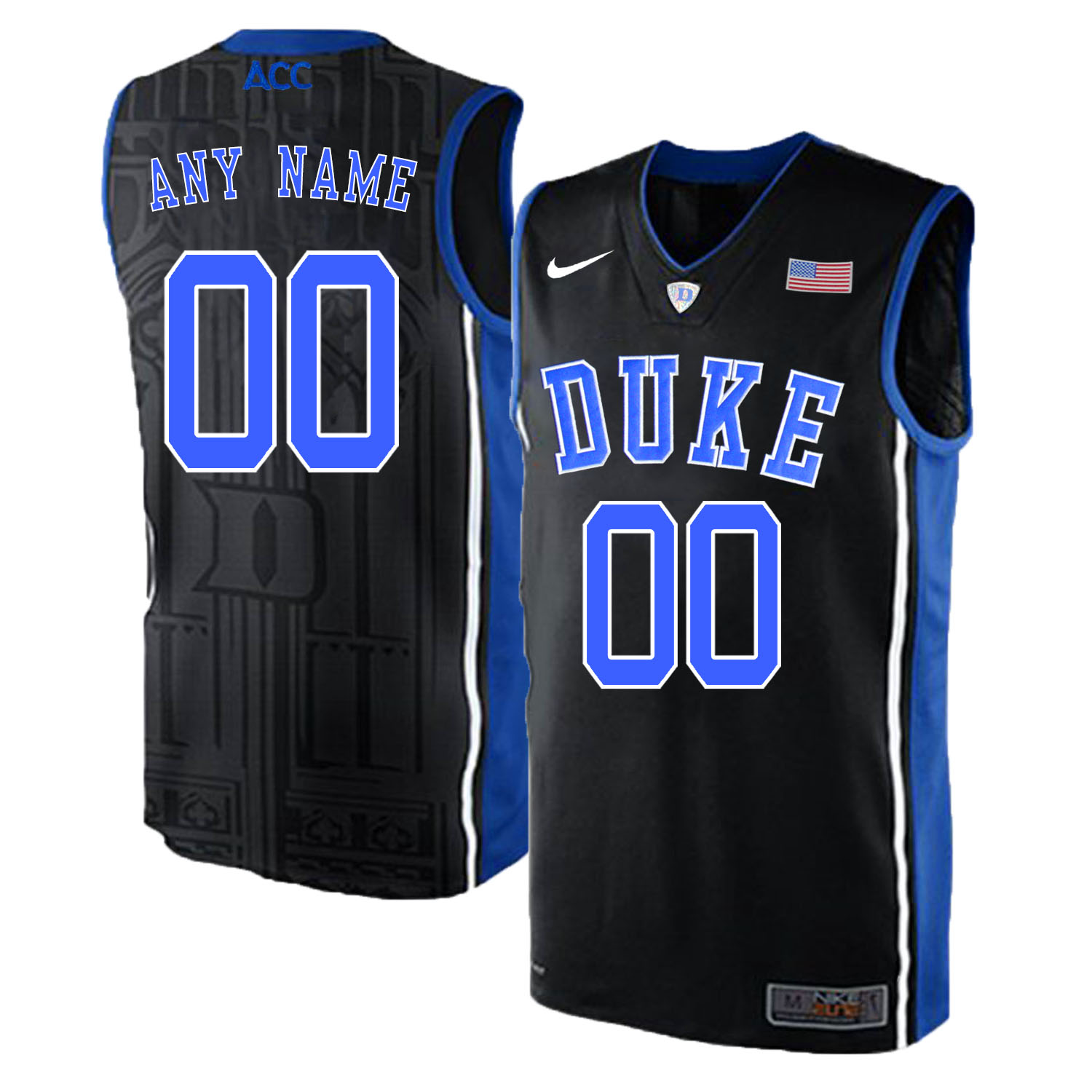 Duke Blue Devils Men's Customized Black Elite Nike College Basketball Jersey