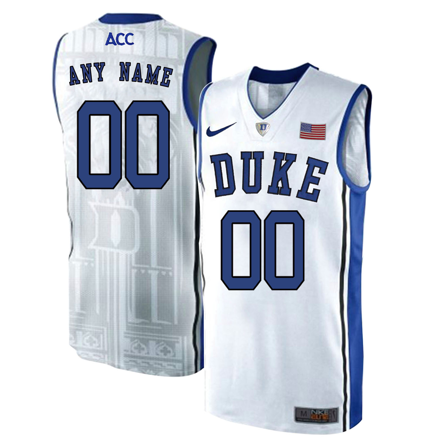 Duke Blue Devils Men's Customized White Elite Nike College Basketball Jersey