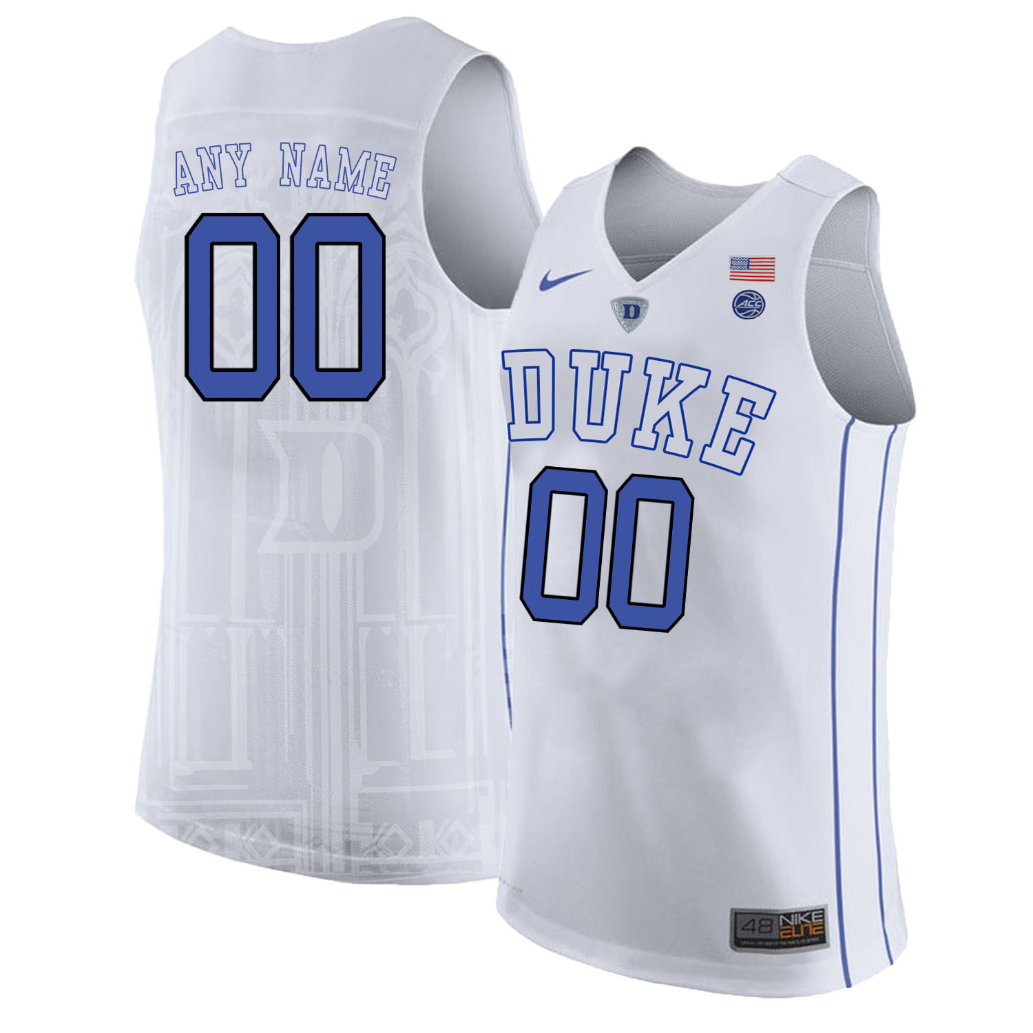 Duke Blue Devils Men's Customized White Nike College Basketball Jersey