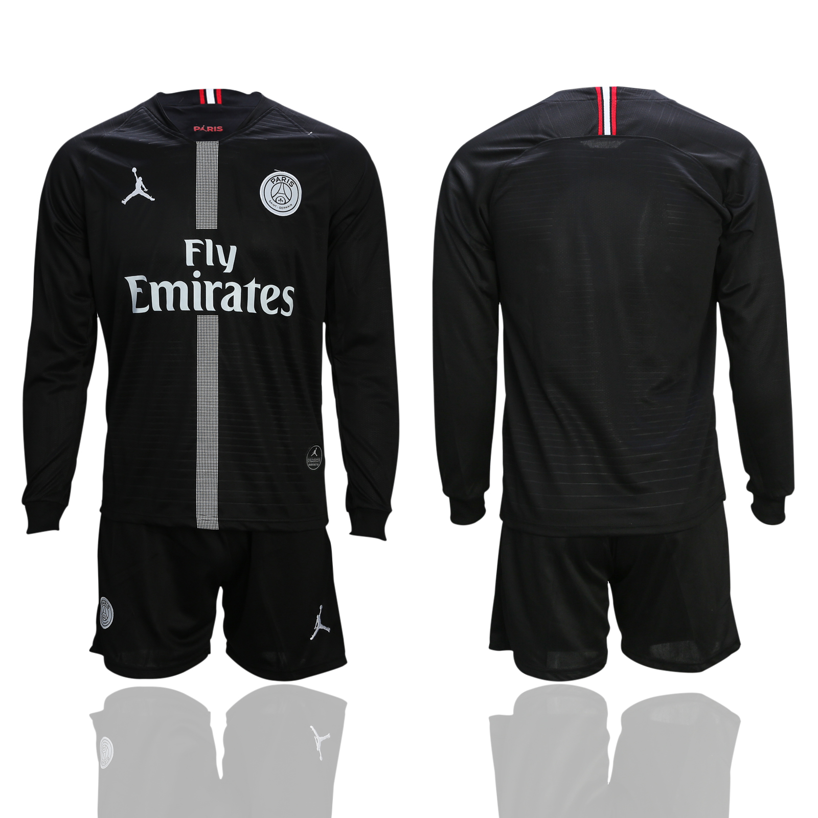 2018-19 Paris Saint-Germain Black UEFA Champions League Long Sleeve Soccer Jersey