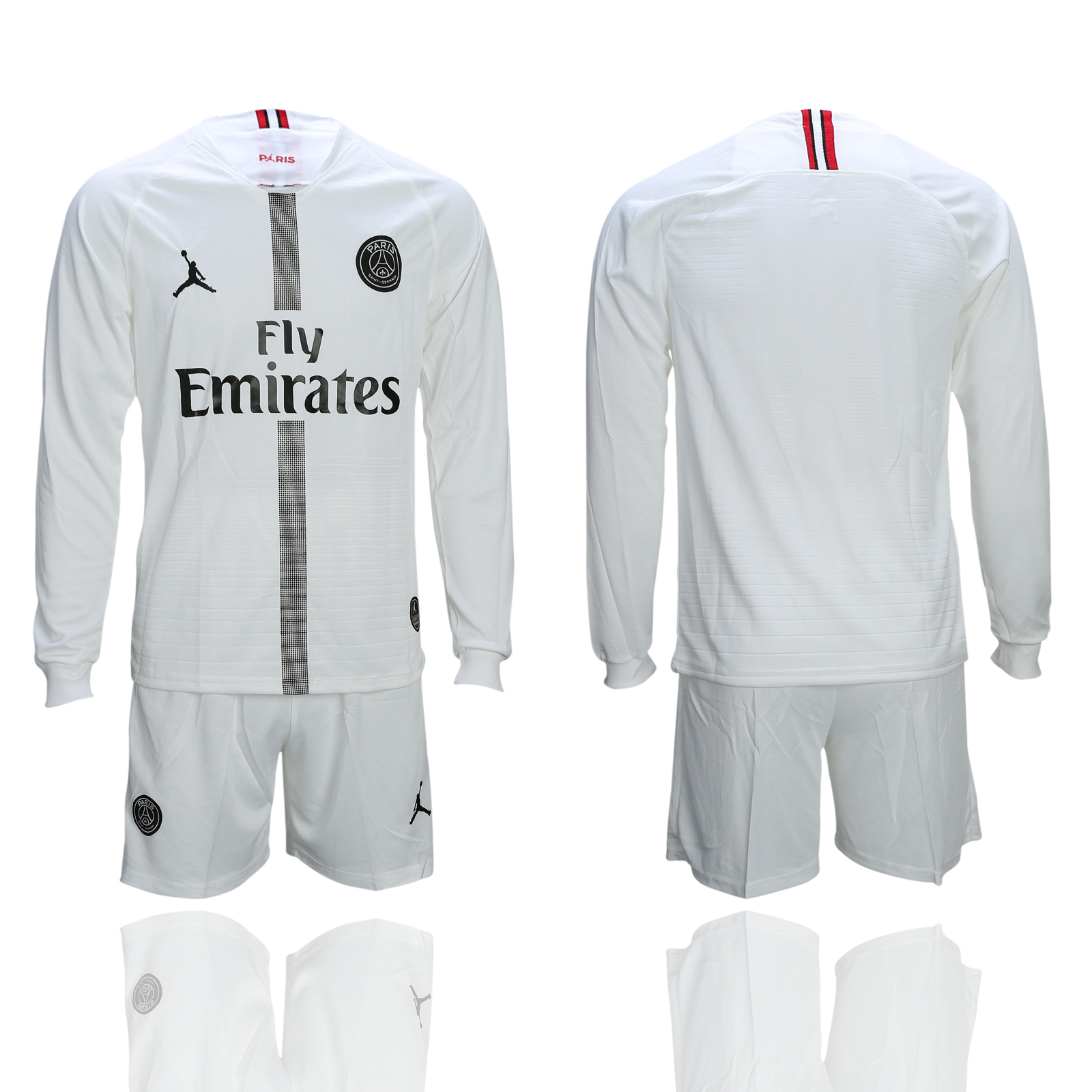 2018-19 Paris Saint-Germain White UEFA Champions League Long Sleeve Soccer Jersey