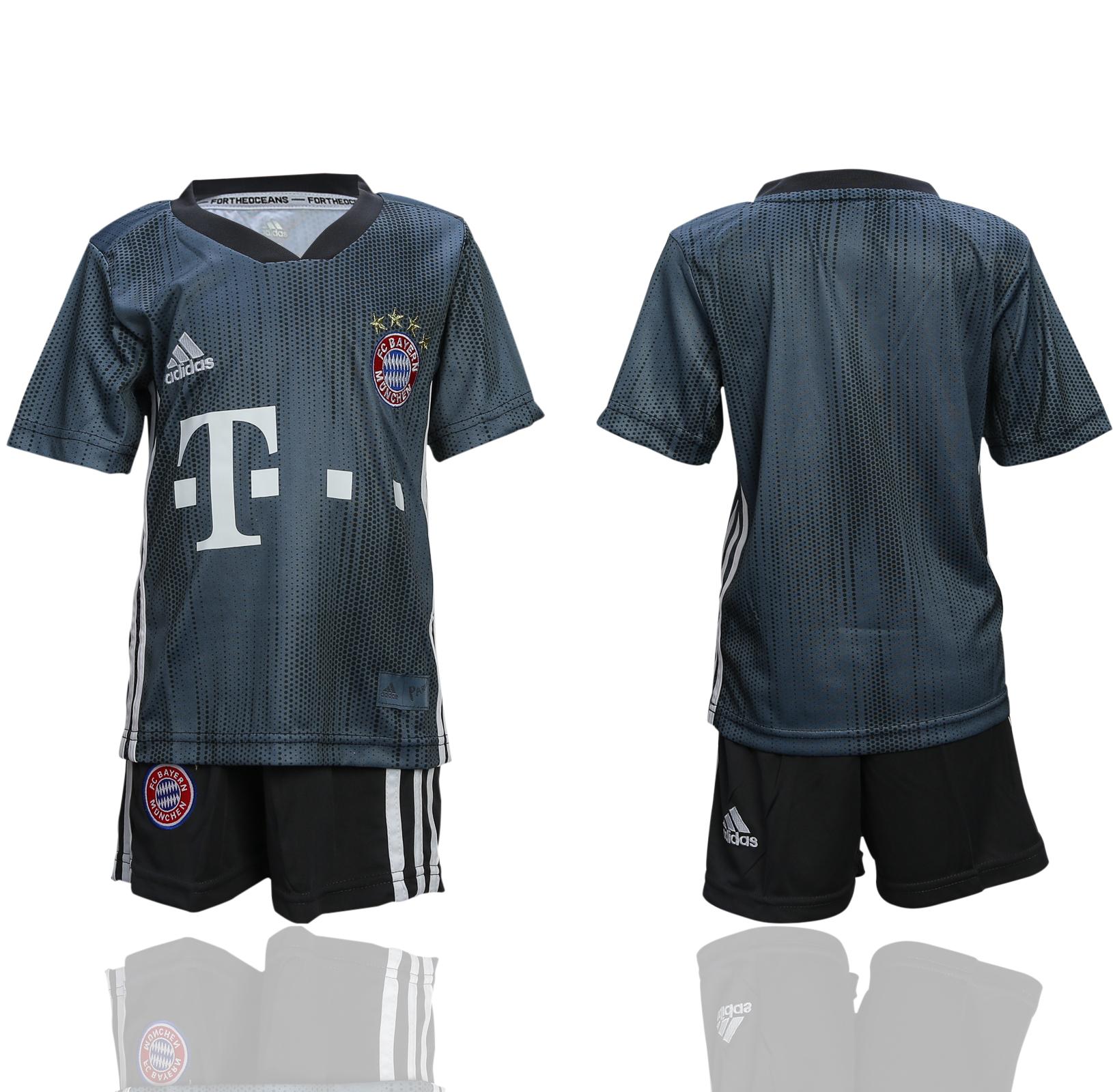 2018-19 Bayern Munich Third Away Youth Soccer Jersey