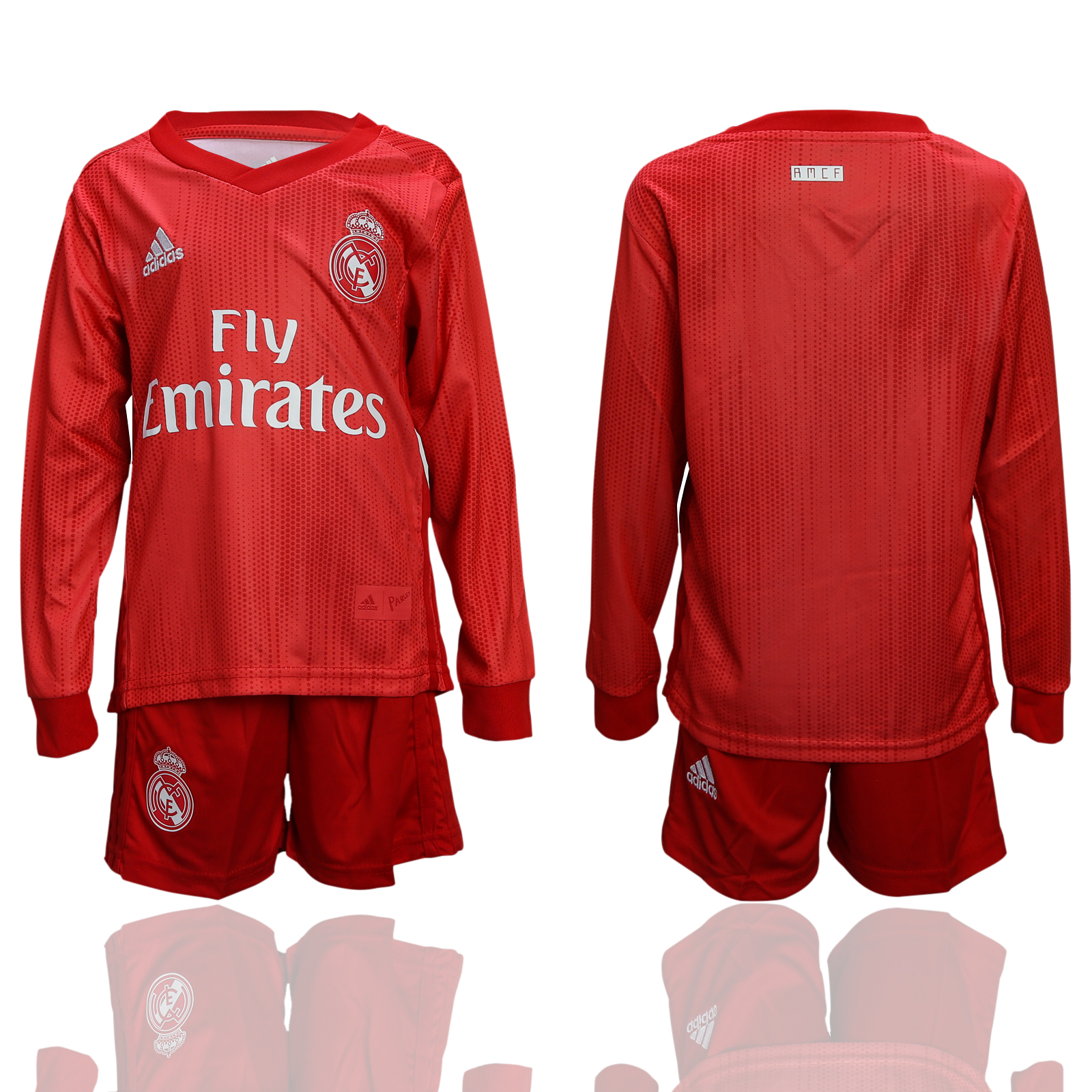 2018-19 Real Madrid Third Away Youth Long Sleeve Soccer Jersey