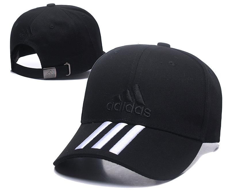 Adidas Classic Black Peaked Adjustable Hat TX