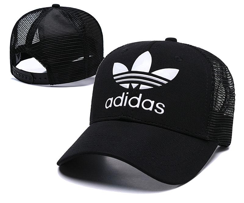 Adidas Originals Classic Black Mesh Peaked Adjustable Hat TX