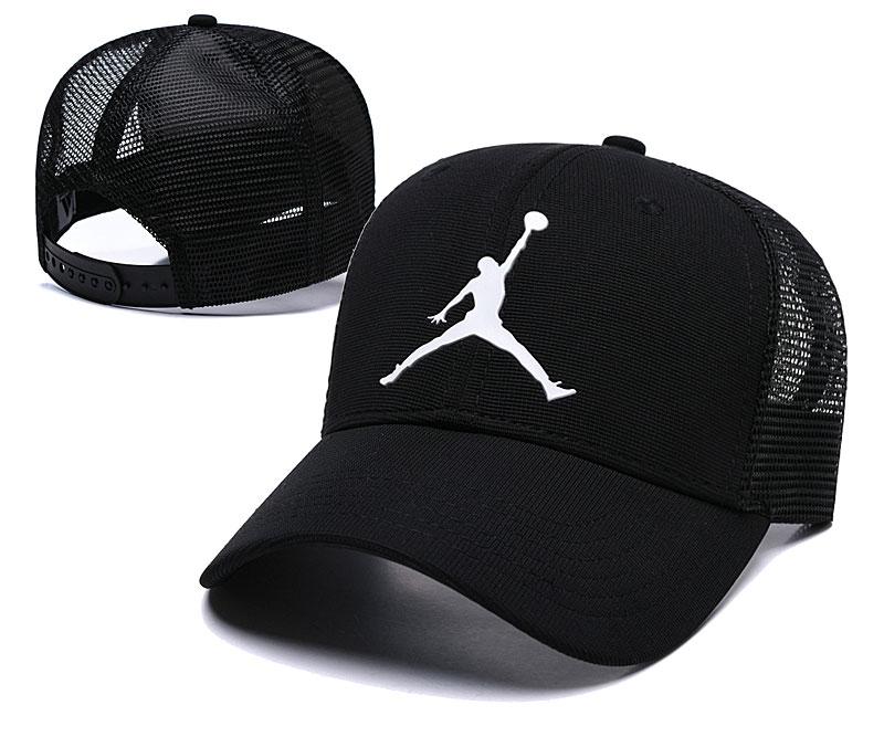 Air Jordan Classic Black Mesh Peaked Adjustable Hat TX