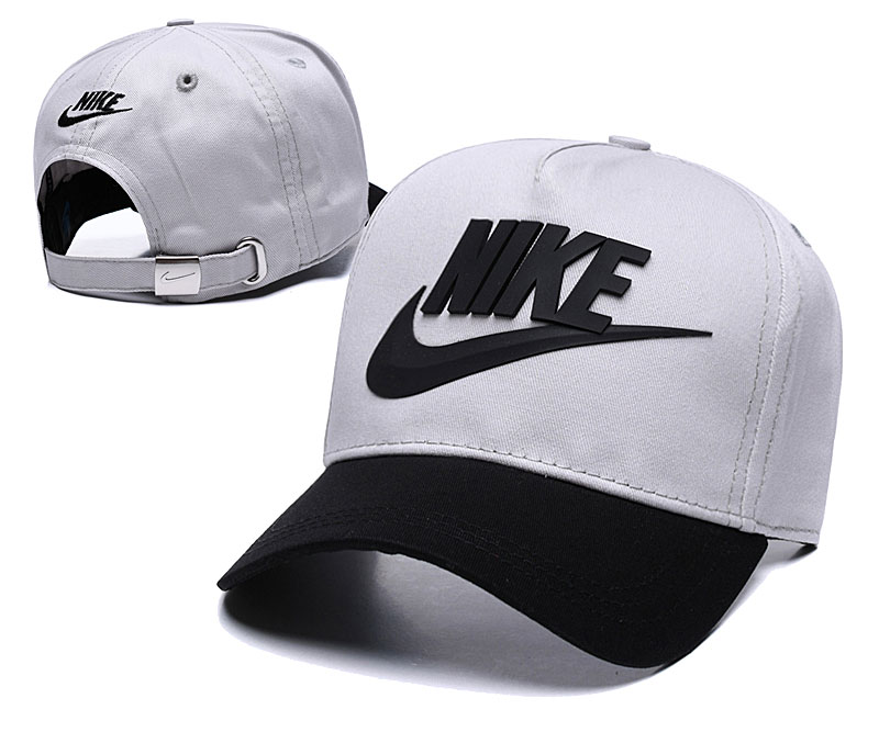 Nike Classic Gray Black Peaked Adjustable Hat TX