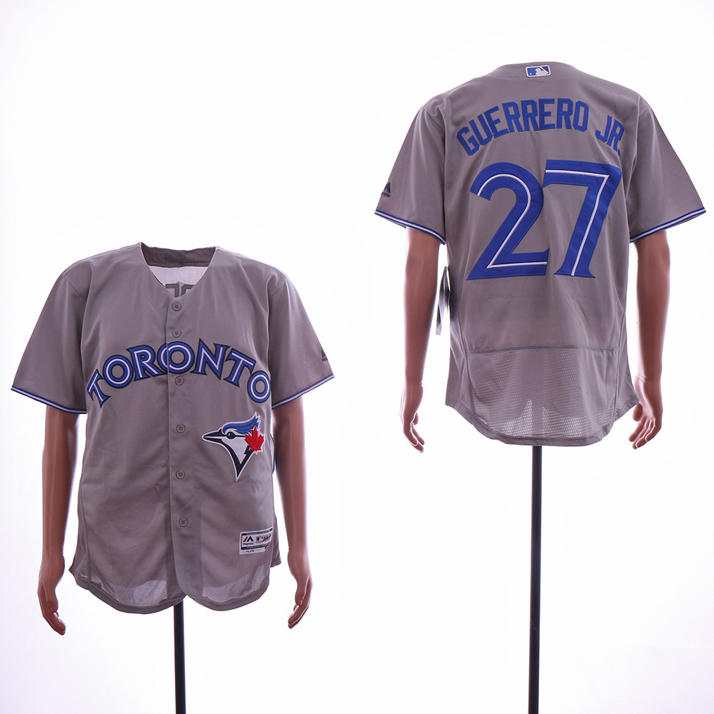 Blue Jays 27 Vladimir Guerrero Jr. Gray Flexbase Jersey