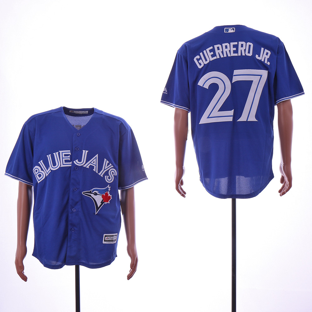 Blue Jays 27 Vladimir Guerrero Jr. Royal Cool Base Jersey