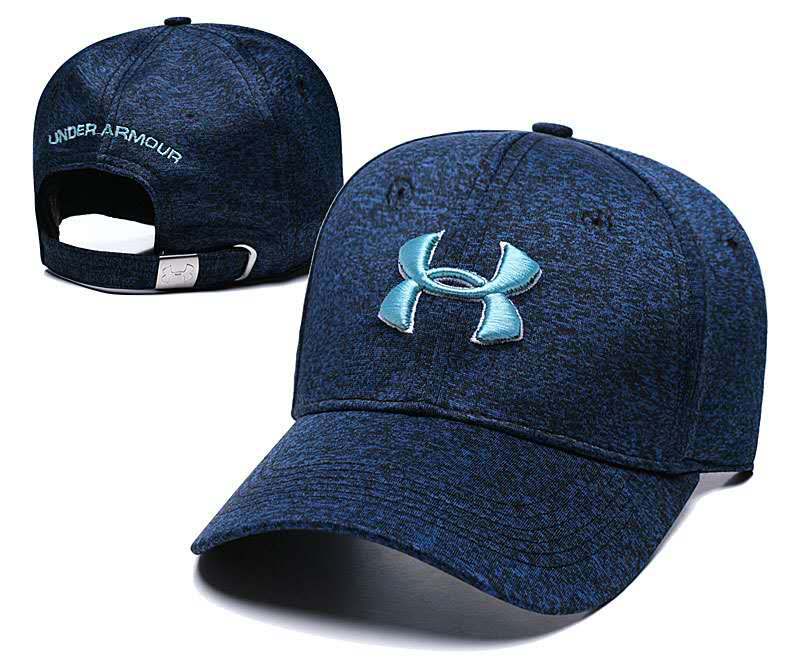 Under Armour Navy Sport Peaked Asjutable Hat TX