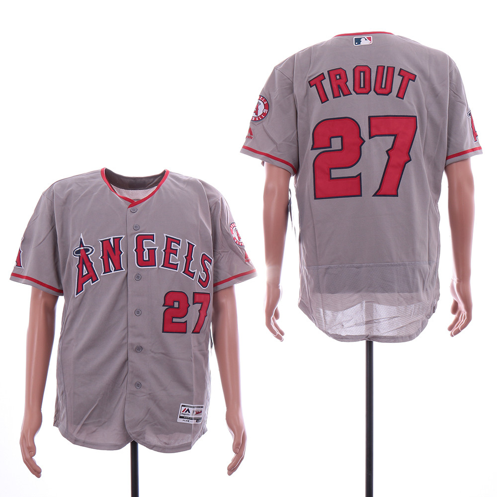 Angels 27 Mike Trout Gray Flexbase Jersey