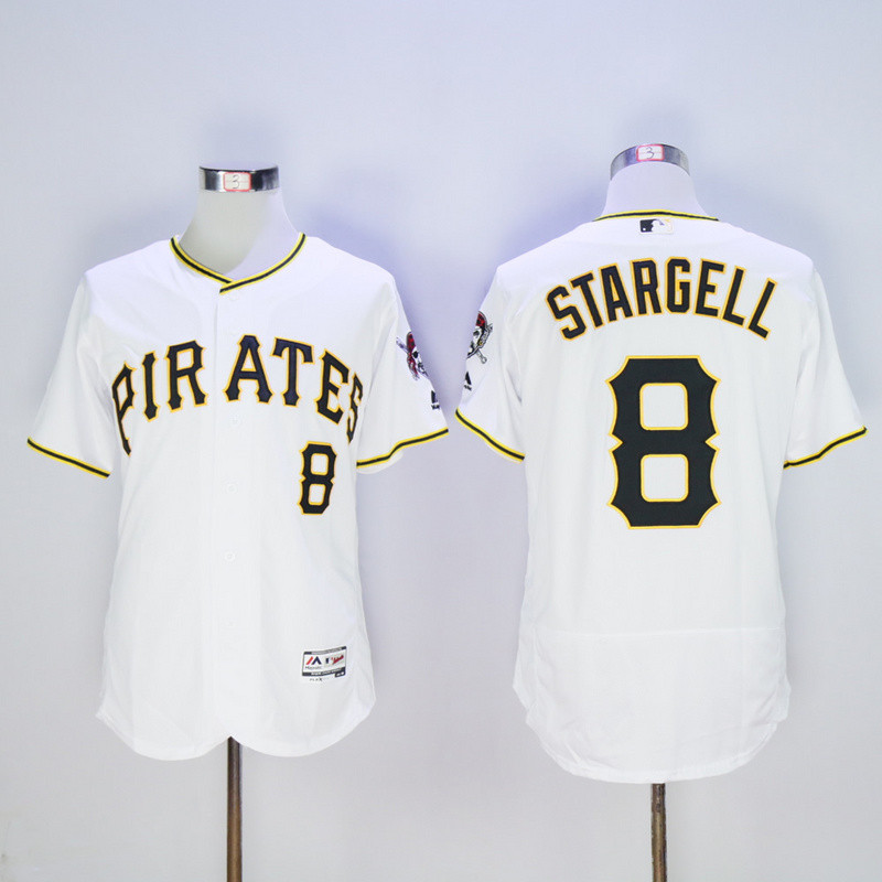 Pirates 8 Willie Stargell White Flexbase Jersey